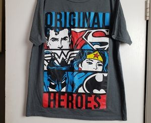 "DC Comics gray tshirt ""Original Heroes"" xl"